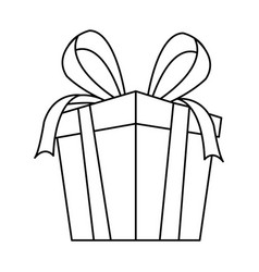 Gift box party present decoration bow ribbon vector