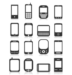 Icon phone icons vector image