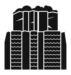 Iguazu falls argentina icon simple style vector