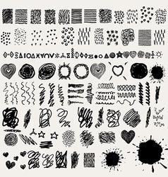 Ink design elements and splatters vector