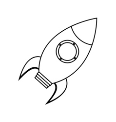 Isolated rocket toy design vector image vector image