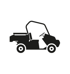 loader car sign black icon vector image vector image