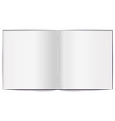 Open brochure with white clean sheets vector