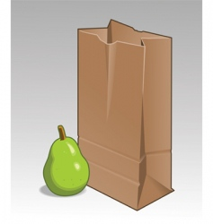 pear and brown bag vector image vector image