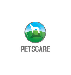 pets care logo vector image