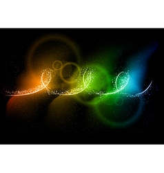 rainbow light on the dark vector image vector image