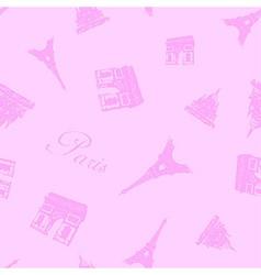 Seamless Paris Textures vector image vector image
