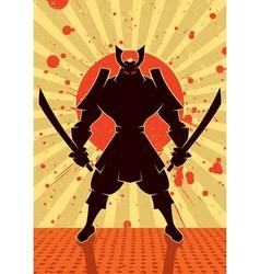 Shadow samurai vector