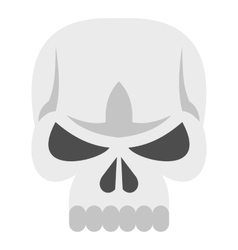 Skull icon flat style vector image vector image