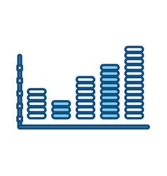 Statistics trend growing vector