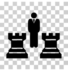 Strategy chess towers icon vector