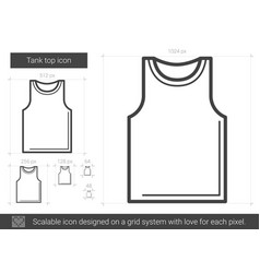 Tank top line icon vector
