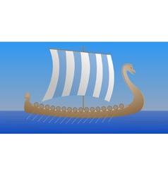 Viking drakkar vector