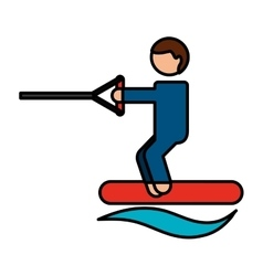 Water ski sport icon vector