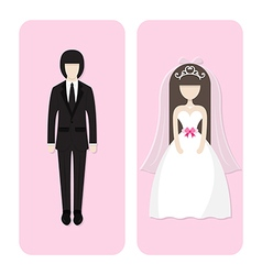 wedding couple character vector image vector image