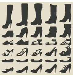 women shoes set vector image