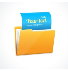 Yellow file folder icon isolated on white vector image