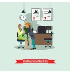 Doctor conduct patient medical check up vector