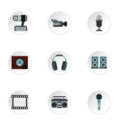Communication device icons set flat style vector image