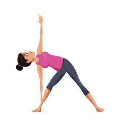 Girl and yoga design vector