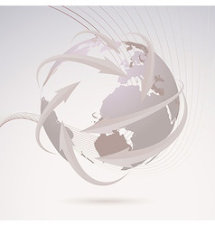 Global directional background template vector