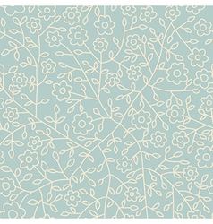 Seamless floral pattern Flowers texture Daisy vector image