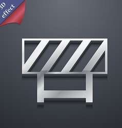 Road barrier icon symbol 3d style trendy modern vector