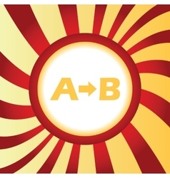A to b abstract icon vector