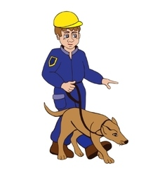 dog trainer on a white background vector image