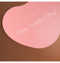 Valentines day big pink festive heart card vector