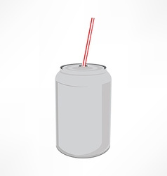 Can with straw vector