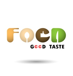 Food icon logo word icon logo abstract icon logo vector