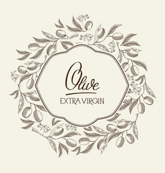 abstract extra virgin oil light template vector image vector image