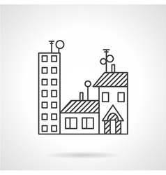 Apartments rent line icon vector