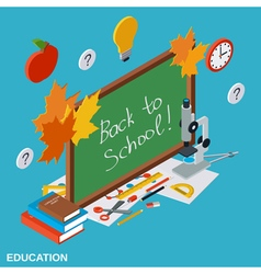 Back to school education background vector image
