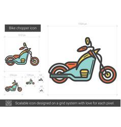 Bike chopper line icon vector