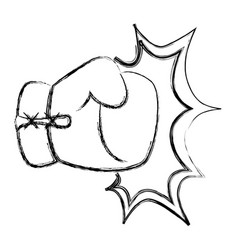 Boxing glove equipment vector