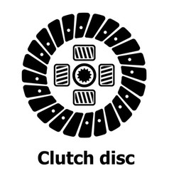 Clutch disc icon simple black style vector