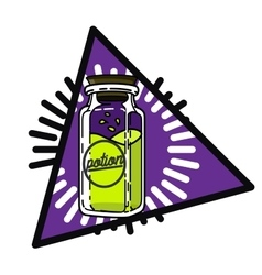 Color vintage magic esoteric emblem vector image vector image