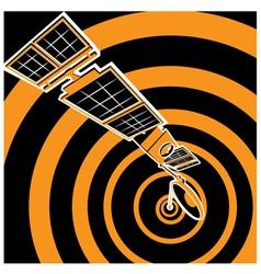 communication satellite vector image