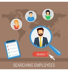 concept searching employees vector image vector image