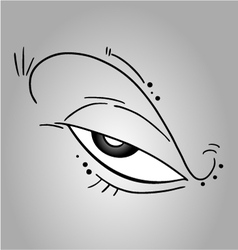 Creative eye vector