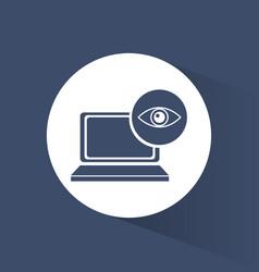 Cyber security technology data surveillance vector