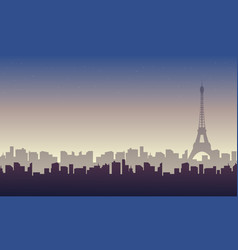 eiffel tower landscape vector image vector image