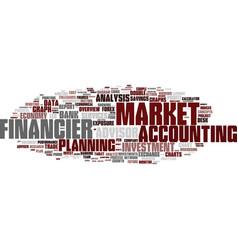 Financier word cloud concept vector