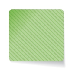 Green paper sticker vector image vector image