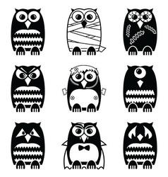 Halloween owls vector