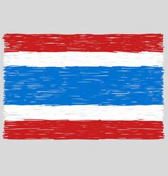 Hand drawn thai flag vector