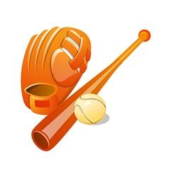 icon baseball vector image