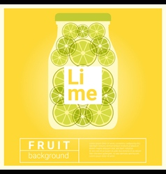 Infused water fruit recipe with lime vector